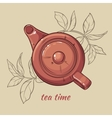 teapot brown vector image vector image