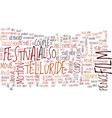 telluride film festival text background word vector image vector image