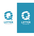 unique letter q logo design template vector image