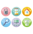 User interface icons set isolated on white vector image vector image