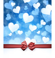 Valentines background with bow vector image