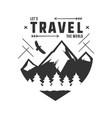vintage adventure hand drawn label design let s vector image
