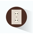 wall plug electricity brown cicle design vector image