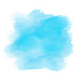 watercolour background in shades blue vector image vector image