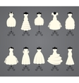 Wedding dresses in different styles vector image vector image