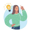 women idea came to vector image