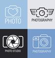 set of photography logos vector image