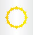 sun sunlight energy icon vector image