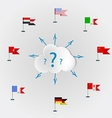 Countries language quest languages of the world vector image