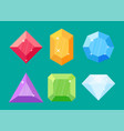 set of diamonds in various shapes vector image