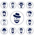 set of different men hipster vector image