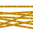 crime scene do not cross yellow police tape vector image