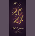 2021 vertical banner for happy new year holidays vector image