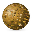 abstract ball gold with stars vector image
