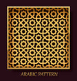 arabic pattern frame background vector image