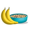 banana and cereal breakfast vector image