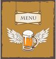 beer wing vector image vector image