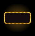brightly theater glowing retro cinema neon vector image vector image
