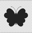 butterfly icon silhouette of a butterfly vector image