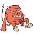 cartoon red devil vector image vector image
