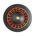 casino black red wheel mockup realistic style vector image vector image