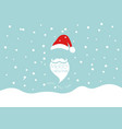 christmas card merry christmas and santa claus vector image