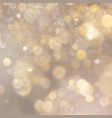 christmas defocused blurred gold background with vector image vector image