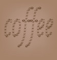 coffee beans inscription on beige background vector image