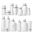 Cosmetic bottle realistic mock up set vector image
