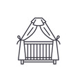 cot line icon concept cot linear vector image vector image