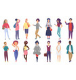 crowd stylized people performing summer vector image