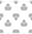 Diamonds seamless pattern in black and vector image vector image