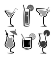 Different kinds of glasses with aperitifs vector image