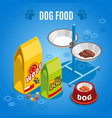 dog food isometric composition vector image vector image