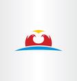 falcon logo icon symbol vector image vector image