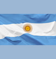 flag argentine republic vector image vector image