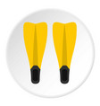 Flippers for diving icon circle