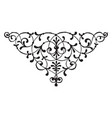 floral motif has leaves on it vintage engraving vector image vector image