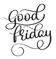 Good friday hand made vintage text on white