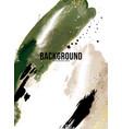 green rustic watercolor ink banner vertical vector image