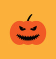 halloween pumpkin sign 409 vector image