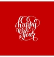 Happy New Year circle hand lettering logo vector image vector image