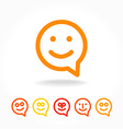happy smile speech-bubble vector image