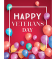 Happy Veterans Day Greeting Card vector image