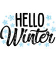 hello winter on white background vector image