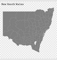 high quality map is a state australia vector image vector image