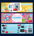home appliance housework cleaning tools sewing vector image vector image