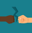 interracial confrontation metaphor vector image