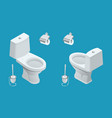 isometric toilet equipment collection for interior vector image vector image