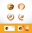 Letter b logo icon set vector image vector image